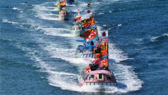 青海島観光船 海上交通安全祈願祭